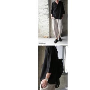 トップス シャツ 七分袖 メンズ 綿 オープンカラー 開襟スキッパーシャツ・「G」(100)メール便可|antiqua|04