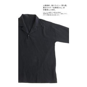 トップス シャツ 七分袖 メンズ 綿 オープンカラー 開襟スキッパーシャツ・「G」(100)メール便可|antiqua|06