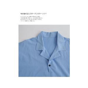 トップス シャツ 七分袖 メンズ 綿 オープンカラー 開襟スキッパーシャツ・「G」(100)メール便可|antiqua|07