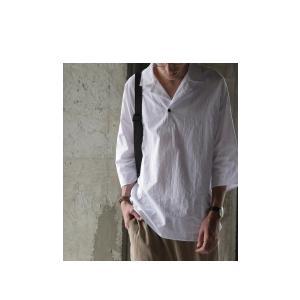 トップス シャツ 七分袖 メンズ 綿 オープンカラー 開襟スキッパーシャツ・「G」(100)メール便可|antiqua|09
