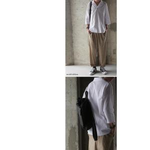 トップス シャツ 七分袖 メンズ 綿 オープンカラー 開襟スキッパーシャツ・「G」(100)メール便可|antiqua|10