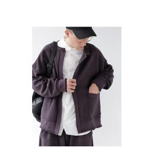 アウター カーディガン 長袖 メンズ ノーカラー 綿 羽織り 裏毛リバーシブルカーデ・2月8日20時〜再再販。「G」##メール便不可|antiqua|17