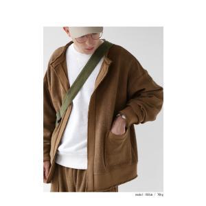 アウター カーディガン 長袖 メンズ ノーカラー 綿 羽織り 裏毛リバーシブルカーデ・2月8日20時〜再再販。「G」##メール便不可|antiqua|03