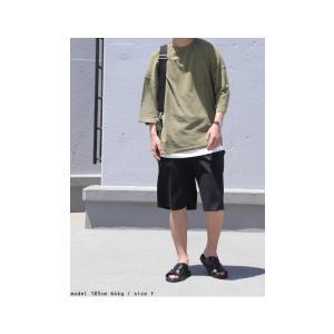 ボトムス パンツ メンズ 綿 ハーフパンツ セットアップ 綿混ポンチハーフパンツ・再販。メール便不可 antiqua 12