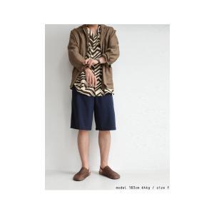 ボトムス パンツ メンズ 綿 ハーフパンツ セットアップ 綿混ポンチハーフパンツ・再販。メール便不可 antiqua 09