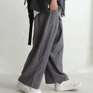 テーパード メンズ パンツ シック 大人 シンプルワイドパンツ・10月13日20時〜発売。##メール便不可 antiqua