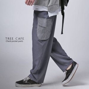 ボトムス パンツ メンズ サルエルパンツ ギンガムチェック ポケットデザインサルエル・3月27日20時〜発売。##メール便不可|antiqua