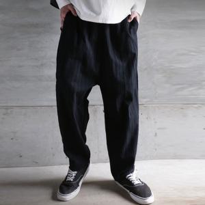 ボトムス パンツ メンズ サルエルパンツ 綿 綿100% ストライプパンツ・5月22日20時〜再販。##メール便不可|antiqua