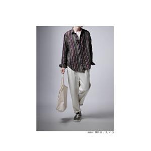 トップス メンズ シャツ 長袖 ストライプ 綿 綿100% マルチストライプシャツ・8月21日20時〜再販。「G」##メール便不可|antiqua|11
