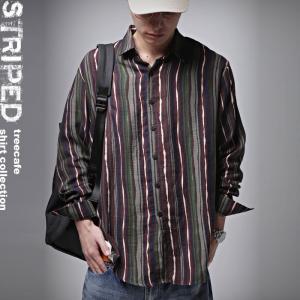 トップス メンズ シャツ 長袖 ストライプ 綿 綿100% マルチストライプシャツ・8月21日20時〜再販。「G」##メール便不可|antiqua|13