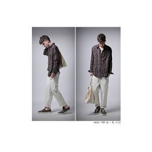 トップス メンズ シャツ 長袖 ストライプ 綿 綿100% マルチストライプシャツ・8月21日20時〜再販。「G」##メール便不可|antiqua|04