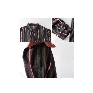 トップス メンズ シャツ 長袖 ストライプ 綿 綿100% マルチストライプシャツ・8月21日20時〜再販。「G」##メール便不可|antiqua|06