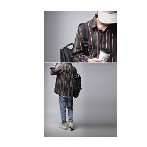 トップス メンズ シャツ 長袖 ストライプ 綿 綿100% マルチストライプシャツ・8月21日20時〜再販。「G」##メール便不可|antiqua|09