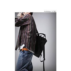 トップス メンズ シャツ 長袖 ストライプ 綿 綿100% マルチストライプシャツ・8月21日20時〜再販。「G」##メール便不可|antiqua|10