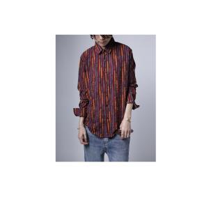 トップス シャツ ストライプ 柄 配色 デザインストライプシャツ・(80)メール便可|antiqua|11