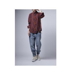 トップス シャツ ストライプ 柄 配色 デザインストライプシャツ・(80)メール便可|antiqua|14
