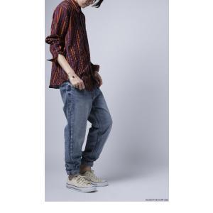 トップス シャツ ストライプ 柄 配色 デザインストライプシャツ・(80)メール便可|antiqua|04