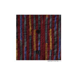 トップス シャツ ストライプ 柄 配色 デザインストライプシャツ・(80)メール便可|antiqua|07
