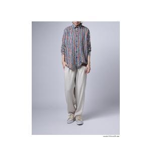 トップス シャツ ストライプ 柄 配色 デザインストライプシャツ・(80)メール便可|antiqua|08