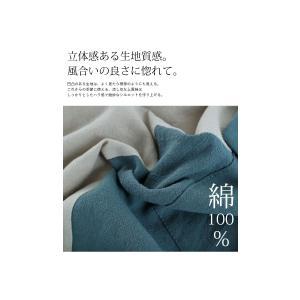 トップス プルオーバー 長袖 綿 綿100% バイカラー BIGポケットトップス・5月25日20時〜再販。(100)メール便可|antiqua|07