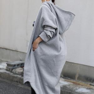 アウター コート 長袖 レディース ロング 起毛 軽い 裏起毛ロングコート・10月16日20時〜発売。##メール便不可|antiqua