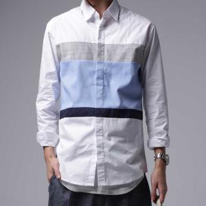 トップス 切り替え ボーダー 綿100% デザインシャツ・再再販。「G」(100)メール便可|antiqua