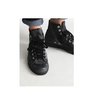 靴 シューズ ハイカット シワ 色落ち加工ハイカットスニーカー・6月30日0時〜再再販。メール便不可|antiqua|14