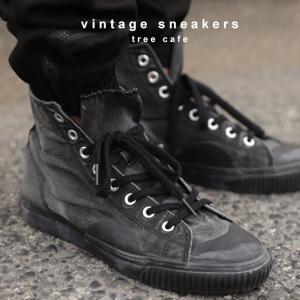 靴 シューズ ハイカット シワ 色落ち加工ハイカットスニーカー・6月30日0時〜再再販。メール便不可|antiqua|18