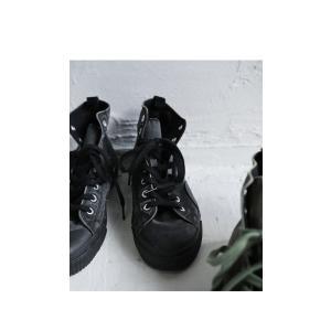 靴 シューズ ハイカット シワ 色落ち加工ハイカットスニーカー・6月30日0時〜再再販。メール便不可|antiqua|05