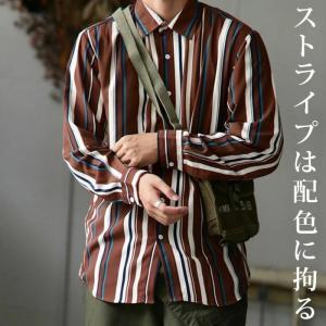 トップス シャツ ストライプ 長袖 ストライプシャツ・2月9日20時〜発売。(80)メール便可|antiqua