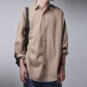 ファイナルバーゲン。トップス シャツ 綿 綿100% ストライプ ストライプシャツ・##メール便不可(返品・キャンセル・交換不可。)|antiqua
