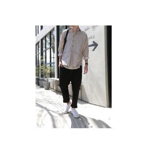 ファイナルバーゲン。トップス メンズ シャツ 長袖 ビッグシルエット ストライプシャツ・(100)メール便可(返品・キャンセル・交換不可。)|antiqua|11