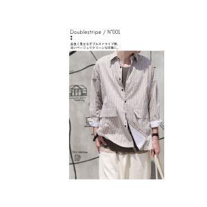 ファイナルバーゲン。トップス メンズ シャツ 長袖 ビッグシルエット ストライプシャツ・(100)メール便可(返品・キャンセル・交換不可。)|antiqua|12
