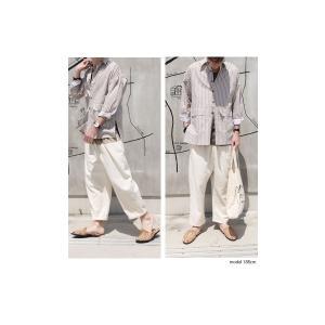 ファイナルバーゲン。トップス メンズ シャツ 長袖 ビッグシルエット ストライプシャツ・(100)メール便可(返品・キャンセル・交換不可。)|antiqua|04