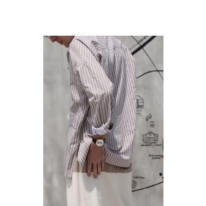 ファイナルバーゲン。トップス メンズ シャツ 長袖 ビッグシルエット ストライプシャツ・(100)メール便可(返品・キャンセル・交換不可。)|antiqua|10
