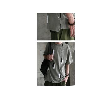 トップス 五分袖 メンズ Tシャツ プルオーバー 柄 ペイントデザインT・6月8日20時〜発売。(100)メール便可|antiqua|12
