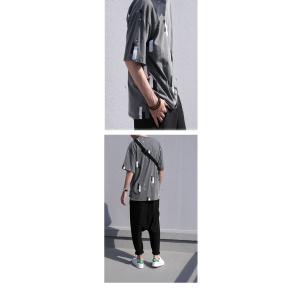 トップス 五分袖 メンズ Tシャツ プルオーバー 柄 ペイントデザインT・6月8日20時〜発売。(100)メール便可|antiqua|07