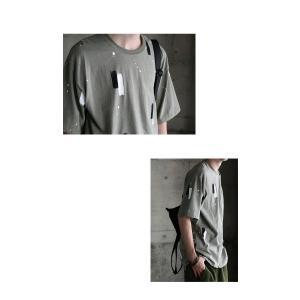 トップス 五分袖 メンズ Tシャツ プルオーバー 柄 ペイントデザインT・6月8日20時〜発売。(100)メール便可|antiqua|09
