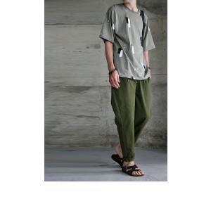 トップス 五分袖 メンズ Tシャツ プルオーバー 柄 ペイントデザインT・6月8日20時〜発売。(100)メール便可|antiqua|10