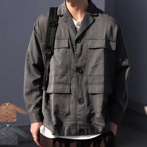 アウター ジャケット テーラード メンズ フラップポケット デザインジャケット・11月9日20時〜発売。##メール便不可|antiqua|14