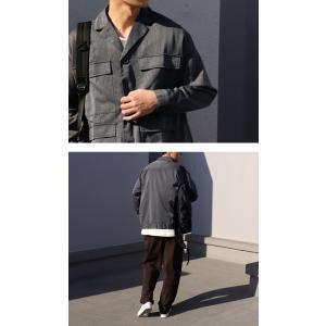 アウター ジャケット テーラード メンズ フラップポケット デザインジャケット・11月9日20時〜発売。##メール便不可|antiqua|05
