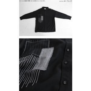 トップス シャツ 長袖 メンズ ブラック セットアップ ステッチデザインシャツ・1月18日20時〜再販。「G」##メール便不可 antiqua 05