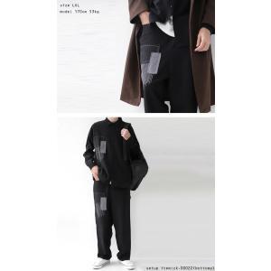 トップス シャツ 長袖 メンズ ブラック セットアップ ステッチデザインシャツ・1月18日20時〜再販。「G」##メール便不可 antiqua 07