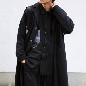 トップス シャツ 長袖 メンズ ブラック セットアップ ステッチデザインシャツ・1月18日20時〜再販。「G」##メール便不可 antiqua 08