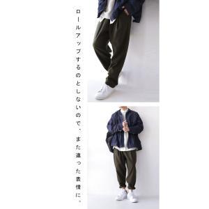 ボトムス パンツ メンズ テーパード タック 長ズボン タックテーパードパンツ・1月25日20時〜再販。「G」##メール便不可|antiqua|16