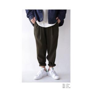ボトムス パンツ メンズ テーパード タック 長ズボン タックテーパードパンツ・1月25日20時〜再販。「G」##メール便不可|antiqua|04