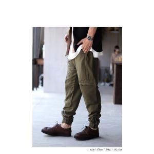ボトムス パンツ メンズ 麻 ジョガーパンツ セットアップ ジョガーカーゴパンツ・7月20日0時〜再販。メール便不可 antiqua 13