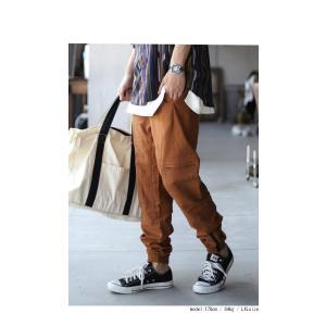 ボトムス パンツ メンズ 麻 ジョガーパンツ セットアップ ジョガーカーゴパンツ・7月20日0時〜再販。メール便不可 antiqua 03