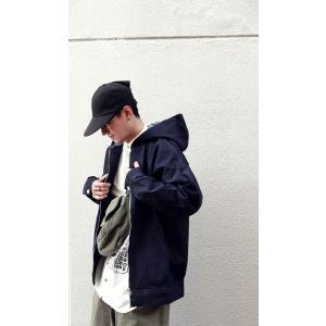 アウター 長袖 メンズ パーカー Gジャン 綿100 綿 フーデットデニムBIGジャケット・10月9日20時〜発売。##メール便不可|antiqua|05