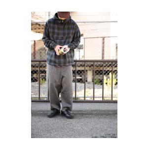 トップス フード チェック柄 パーカー 長袖 M L XL フーデッドプルオーバー・11月9日20時〜発売。##メール便不可 antiqua 05